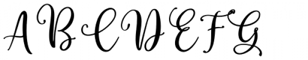 Winter Miracle Script Font UPPERCASE