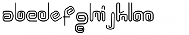 Wire Clip Font LOWERCASE