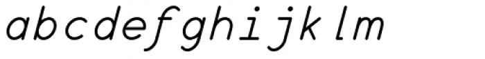 Wire Type Mono Italic Font LOWERCASE