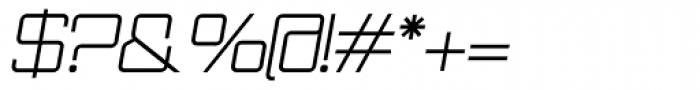 Wired Italic Font OTHER CHARS
