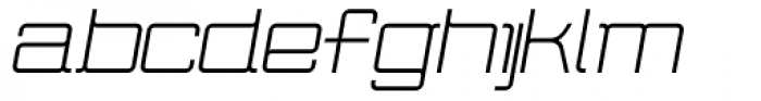 Wired Italic Font LOWERCASE
