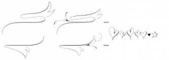 Wishes Script Ornaments Display Light Font LOWERCASE
