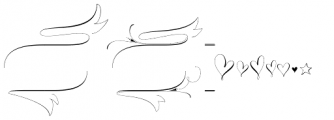 Wishes Script Ornaments Display Regular Font LOWERCASE