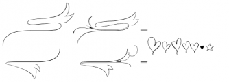 Wishes Script Ornaments Text Light Font LOWERCASE