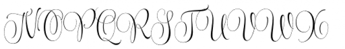 Wishes Script Pro Display Light Font UPPERCASE