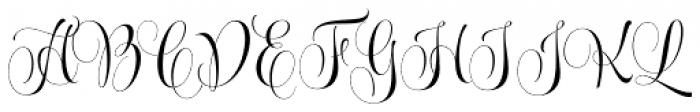 Wishes Script Pro Display Regular Font UPPERCASE