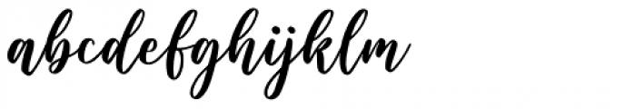 Wishper Script Regular Font LOWERCASE