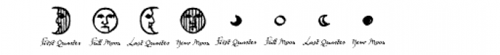 Witchfinder Astrology Explained Font OTHER CHARS