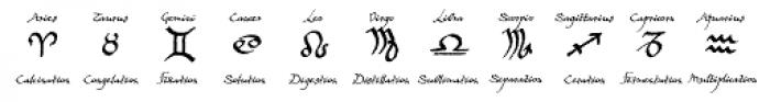 Witchfinder Astrology Explained Font UPPERCASE