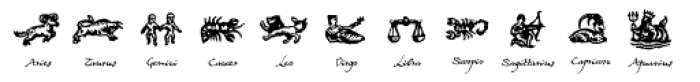 Witchfinder Astrology Explained Font LOWERCASE