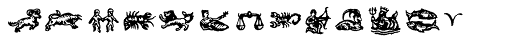 Witchfinder Astrology Font LOWERCASE
