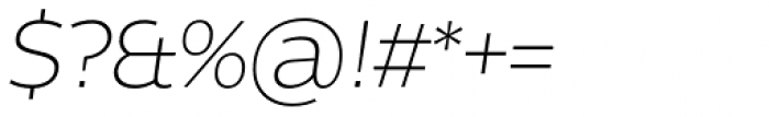 Without Alt Sans Light Italic Font OTHER CHARS