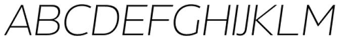 Without Alt Sans Light Italic Font UPPERCASE