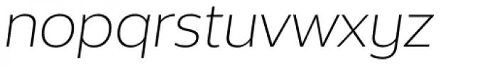 Without Alt Sans Light Italic Font LOWERCASE