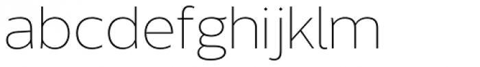 Without Sans ExtraLight Font LOWERCASE