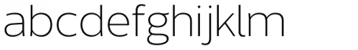 Without Sans Light Font LOWERCASE