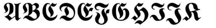 Wittenberger Fraktur MT Bold Dfr Font UPPERCASE