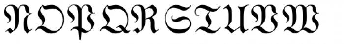 Wittenberger Fraktur MT Std Font UPPERCASE