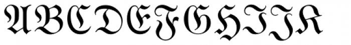 Wittenberger Fraktur Std Regular Font UPPERCASE