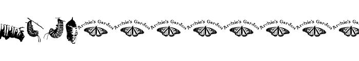 WL Royal Flutter Dingbats Font UPPERCASE