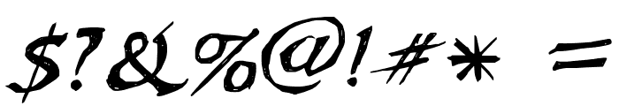 WL Scribble Flinger Font OTHER CHARS