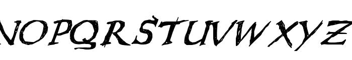 WL Scribble Flinger Font UPPERCASE