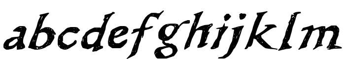 WL Scribble Flinger Font LOWERCASE