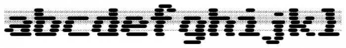 WL Dot Matrix Bad Ribbon Bold Font LOWERCASE