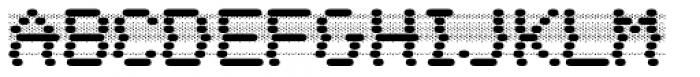 WL Dot Matrix Bad Ribbon Font UPPERCASE