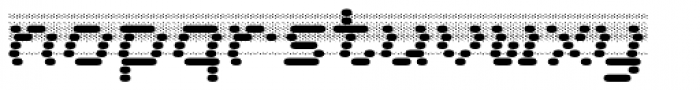 WL Dot Matrix Bad Ribbon Font LOWERCASE
