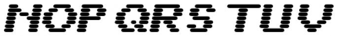 WL Rasteroids Monospace Bold Italic Font UPPERCASE