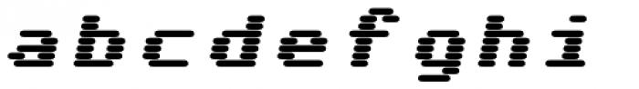 WL Rasteroids Monospace Bold Italic Font LOWERCASE