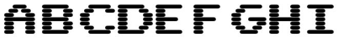 WL Rasteroids Monospace Bold Font UPPERCASE
