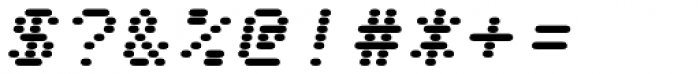 WL Rasteroids Monospace Italic Font OTHER CHARS