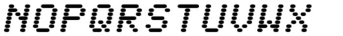WL Rasteroids Monospace Italic Font UPPERCASE
