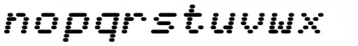 WL Rasteroids Monospace Italic Font LOWERCASE
