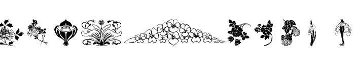 wmflowers3 Font UPPERCASE