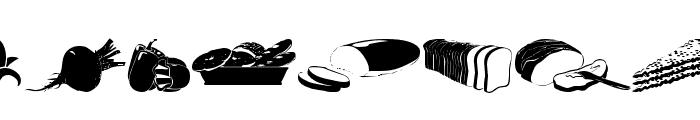 wmfood1 Font LOWERCASE