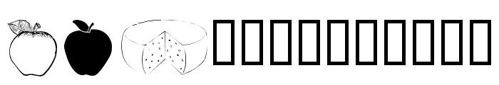 wmfood2 Font UPPERCASE