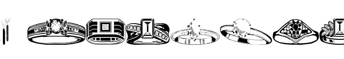 wmjewelry Font LOWERCASE