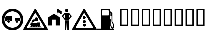 wmroadsigns Font LOWERCASE