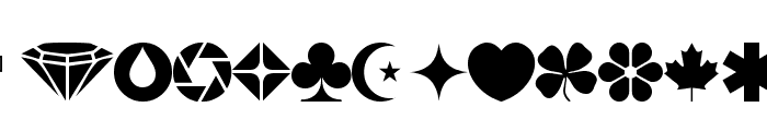 wmshapes1 Font LOWERCASE