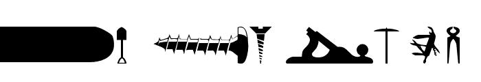 wmtools1 Font LOWERCASE