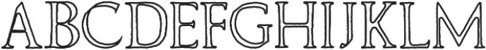 Wolvercote Outline otf (400) Font UPPERCASE