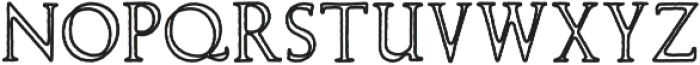 Wolvercote Outline otf (400) Font LOWERCASE