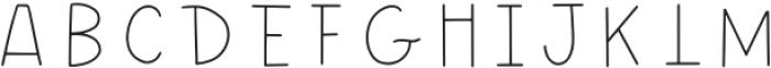 Wonderful Adventure Font - Lines Regular otf (400) Font UPPERCASE