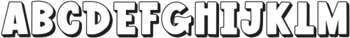 Wonderful Adventure Font - Shadow otf (400) Font UPPERCASE