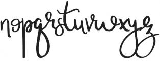 Wonderful_&_Perfect otf (400) Font LOWERCASE