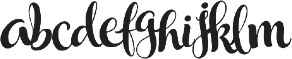 Wonderland Script otf (400) Font LOWERCASE