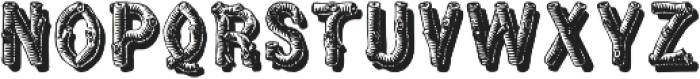 WoodFontFour ttf (400) Font LOWERCASE